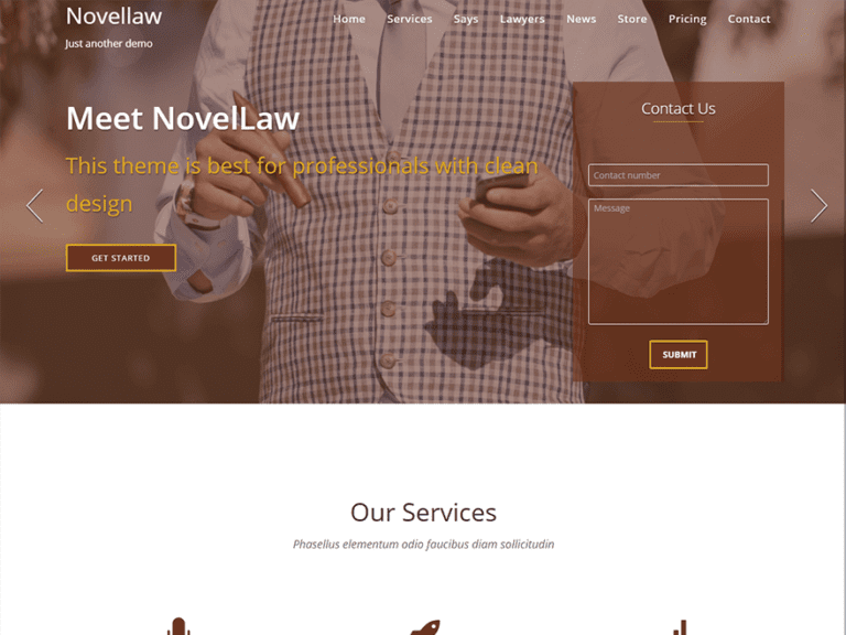 NOVELLAW FREE LAWYER WORDPRESS THEME