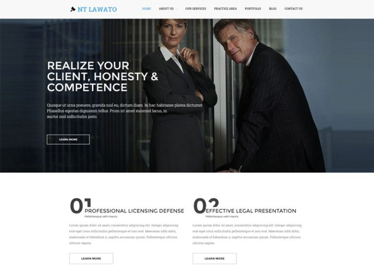 NT LAWATO FREE WORDPRESS THEME FOR LAW FIRM