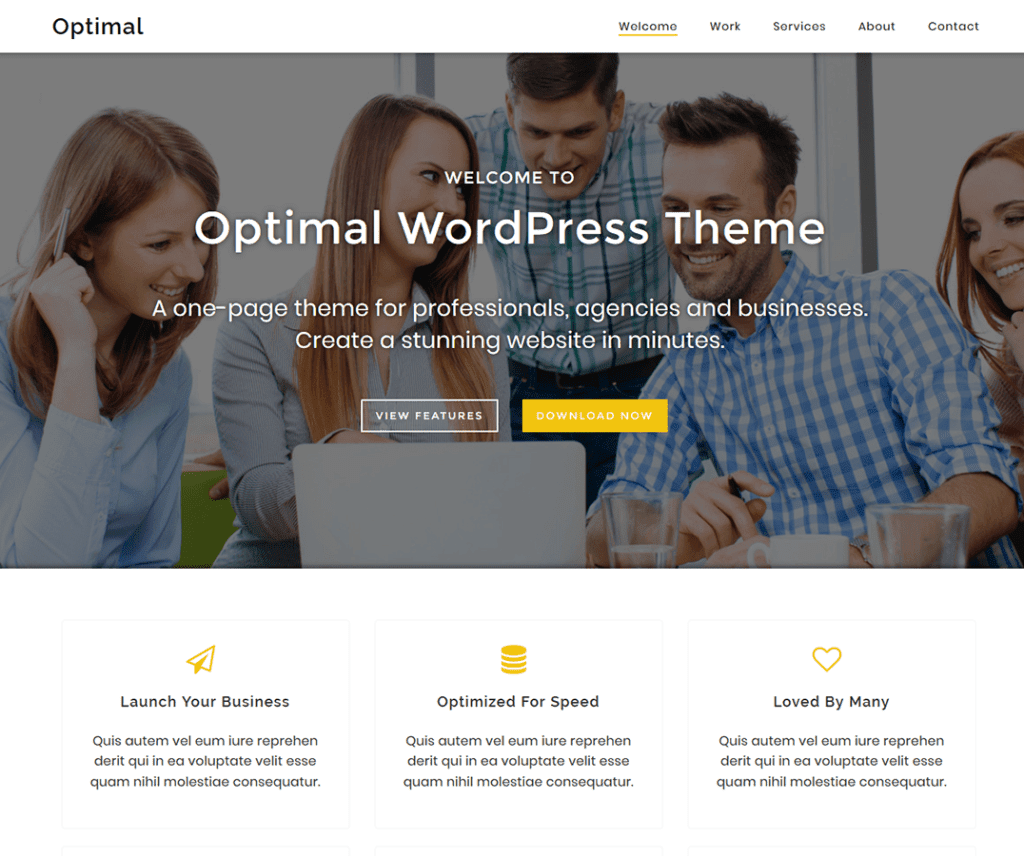 OPTIMAL FREE PHOTOGRAPHY WORDPRESS THEME