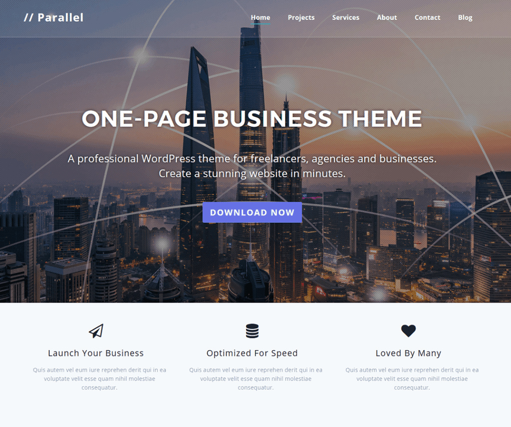 PARALLEL FREE PHOTOGRAPHY WORDPRESS THEME