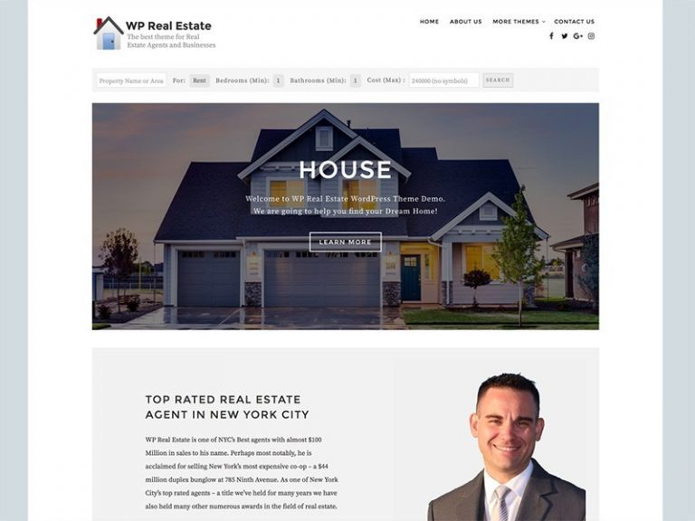 WP REAL ESTATE FREE PHOTOGRAPHY WORDPRESS THEME
