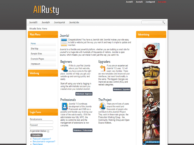 ALLRUSTY – JOOMLA 1.7 TEMPLATE FOR NEWS