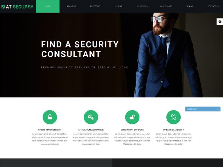 AT SECURSY ONEPAGE FREE RESPONSIVE SERVICE WEBSITE JOOMLA TEMPLATE