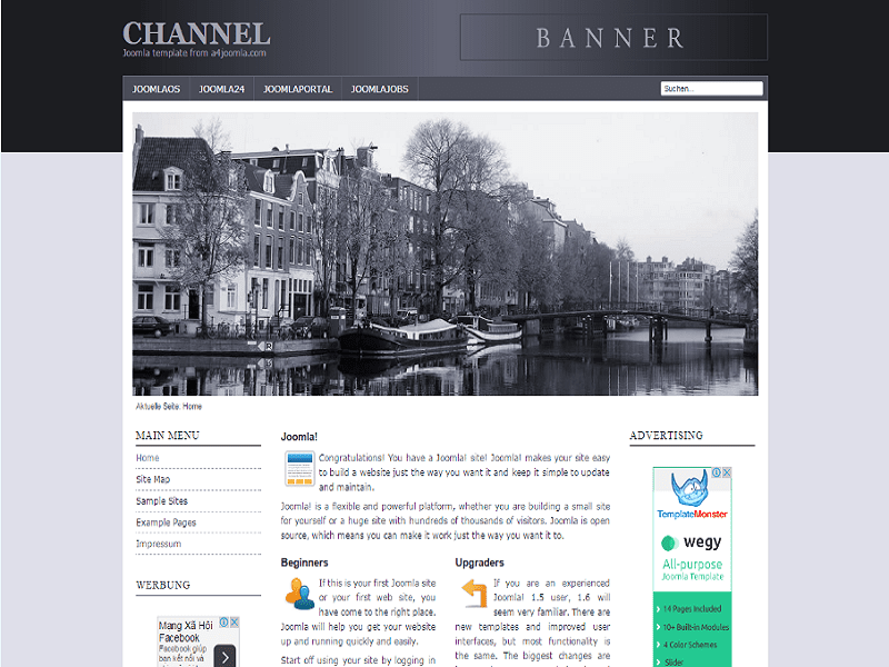 CHANNEL – JOOMLA 1.0 TEMPLATE FOR CITY SITE