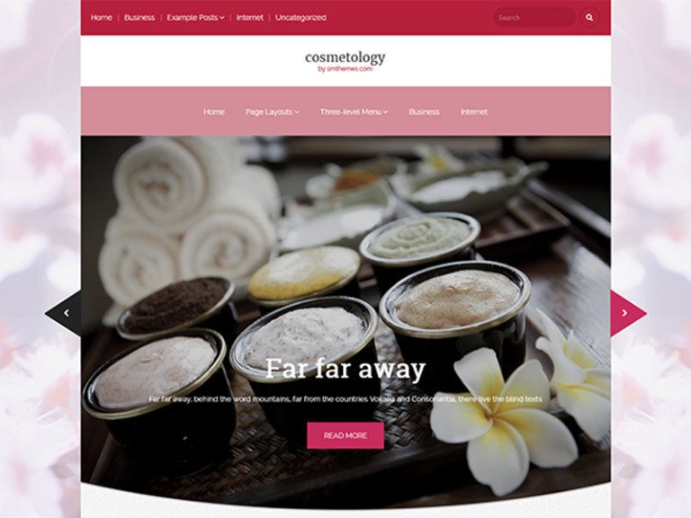 COSMETOLOGY FREE WORDPRESS THEME FOR COSMETOLOGY