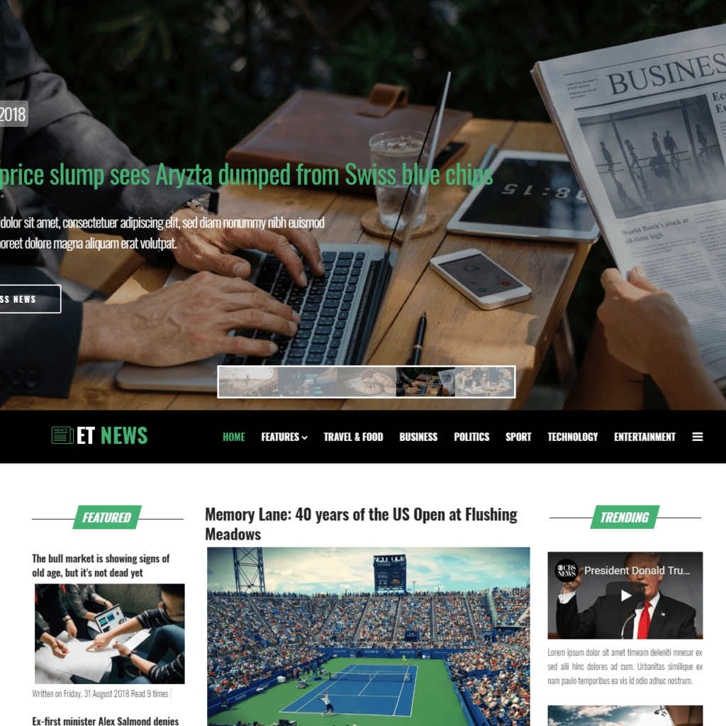 ET NEWS FREE JOOMLA NEWSPAPER THEME