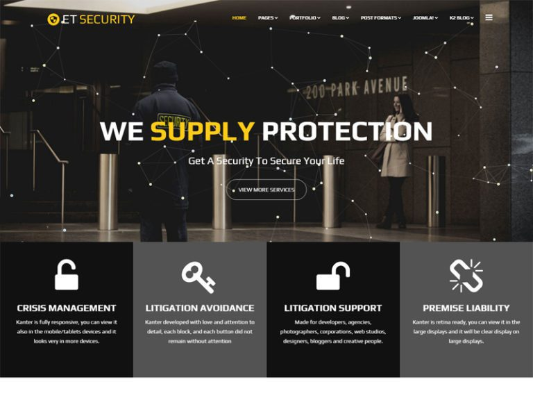 ET SECURITY JOOMLA SECURITY TEMPLATE