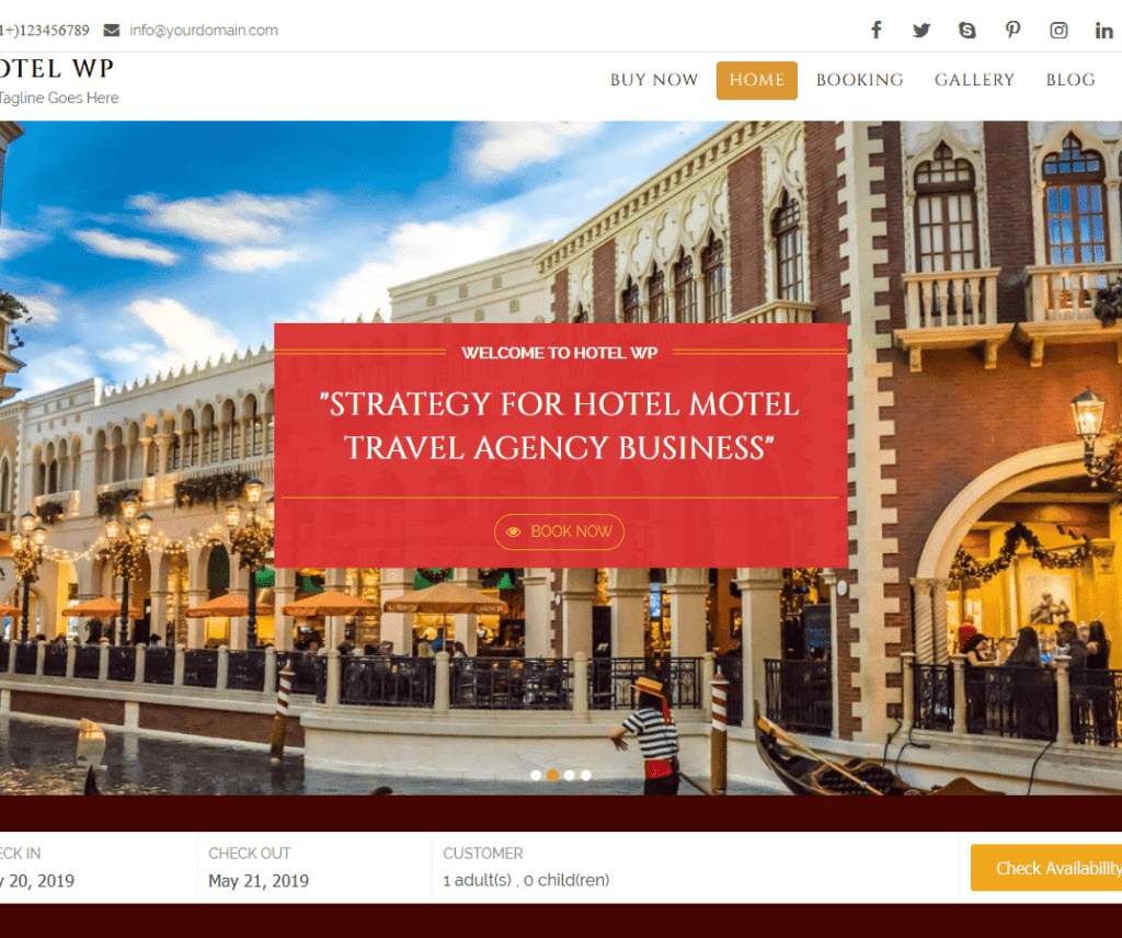 HOTEL WP LITE FREE ENTERTAINMENT WORDPRESS THEME