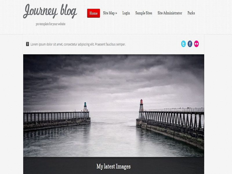 JOURNEY BLOG RED – JOOMLA TEMPLATE BLOG RESPONSIVE