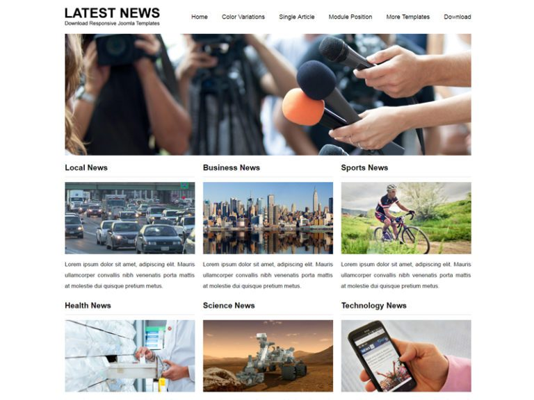 JSR LATEST NEWS FREE JOOMLA NEWS TEMPLATE