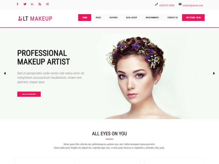 LT MAKEUP WORDPRESS COSMETICS STORE THEME