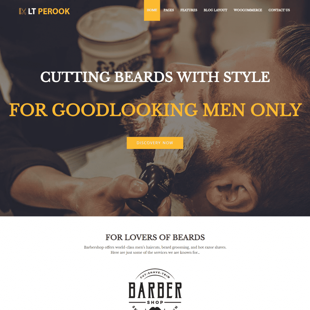 LT PEROOK FREE BARBER SHOP WORDPRESS THEME