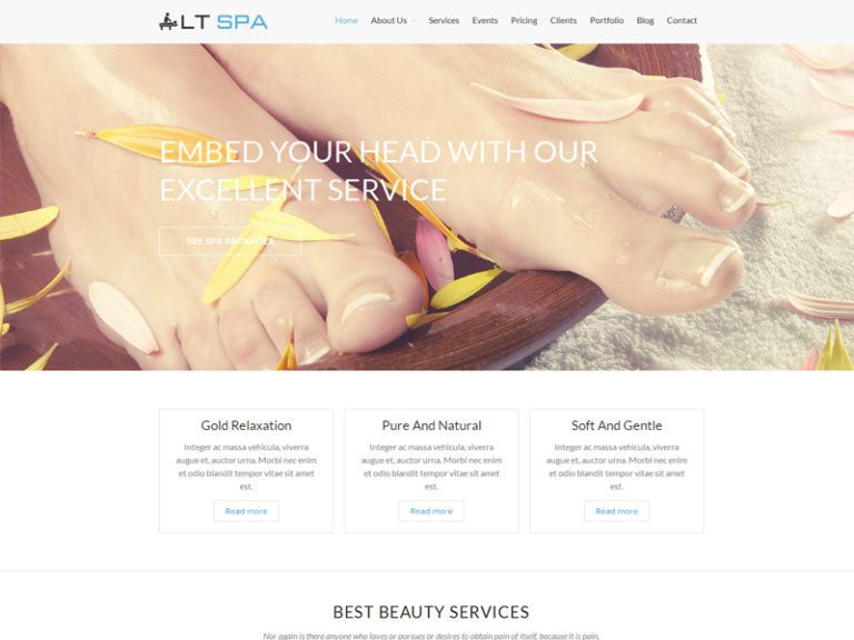 LT SPA FREE RESPONSIVE BEAUTY WORDPRESS THEME