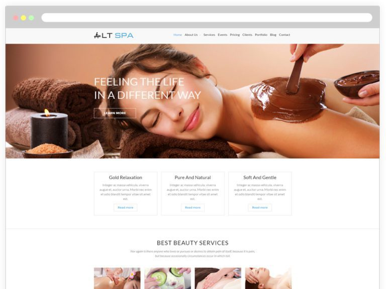 LT SPA ONEPAGE FREE BEAUTY SALON WORDPRESS THEME