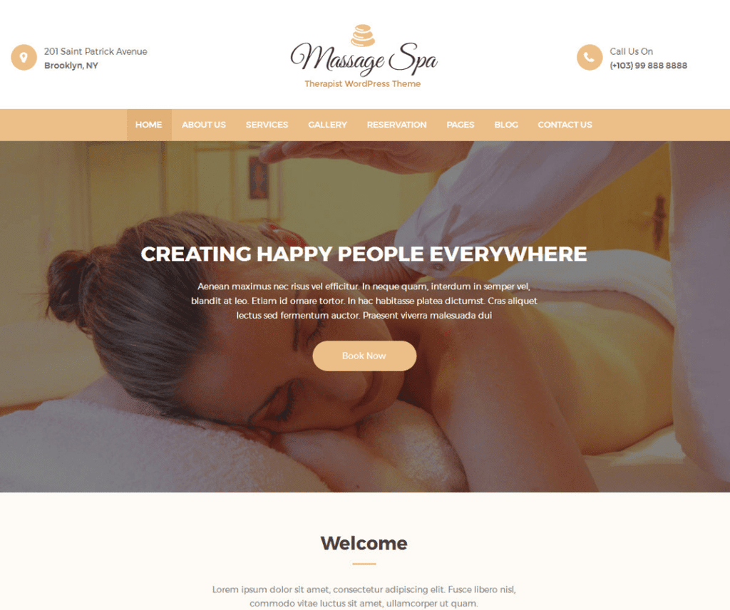 MASSAGE CLEAN FREE EDUCATION WORDPRESS THEME
