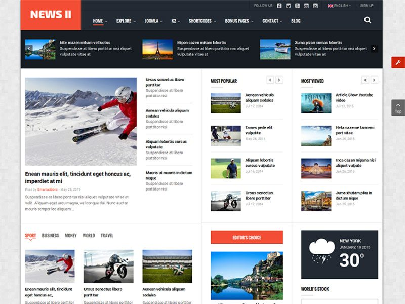 SJ NEW II – FREE JOOMLA TEMPLATE FOR NEWS , MAGAZINE
