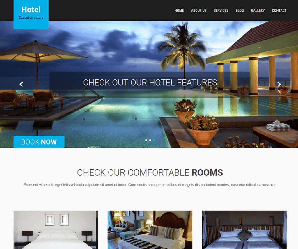 SKT HOTEL LITE FREE FOOD AND DRINK WORDPRESS THEME