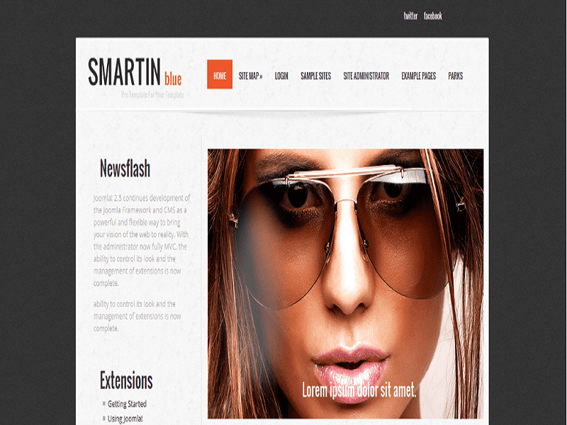 SMARTIN BLUE – JOOMLA TEMPLATE FREE NEWS FLASH