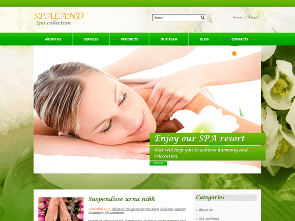 SPALAND – FREE WORDPRESS THEME FOR MEDICAL