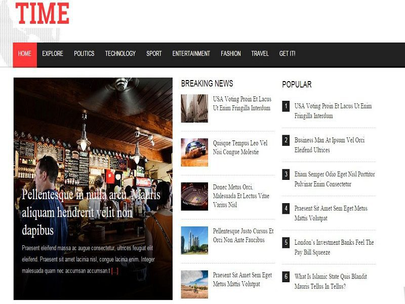 TIME – FREE JOOMLA TEMPLATE FOR THE JOURNAL