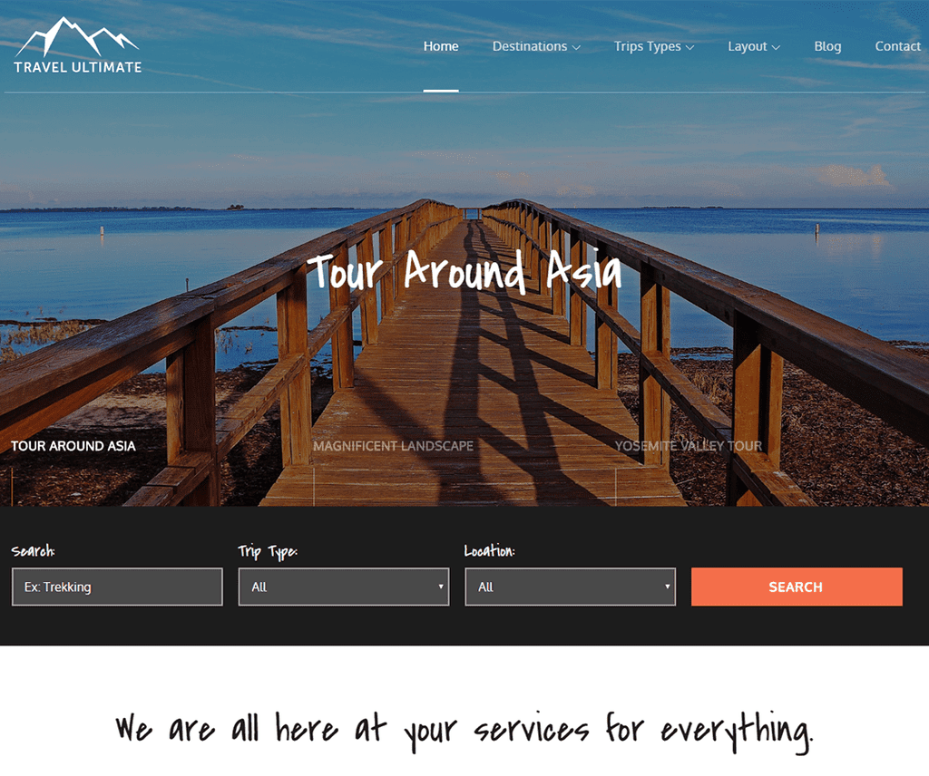 TRAVEL ULTIMATE FREE ENTERTAINMENT WORDPRESS THEME