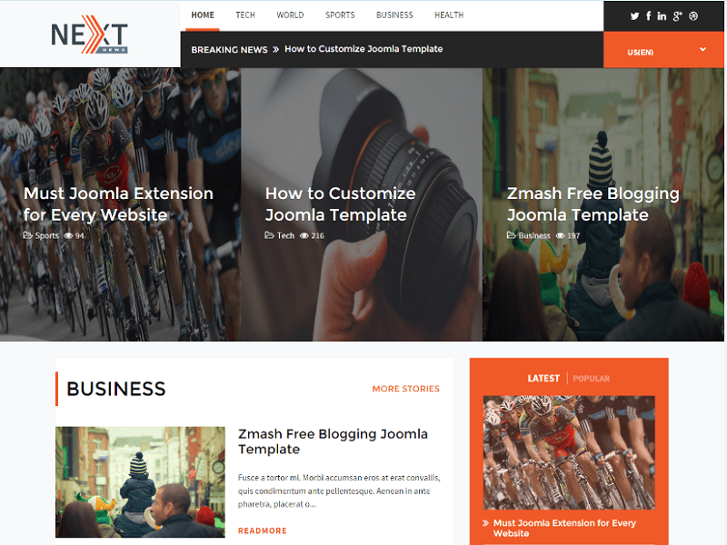 TX ZENITH – JOOMLA 1.4 TEMPLATE FOR NEWS SITE