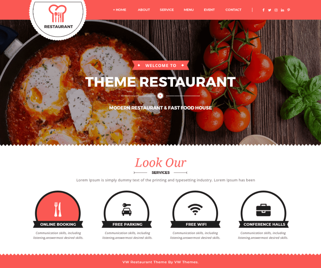 VW FOOD CORNER FREE FOOD AND DRINK WORDPRESS THEME