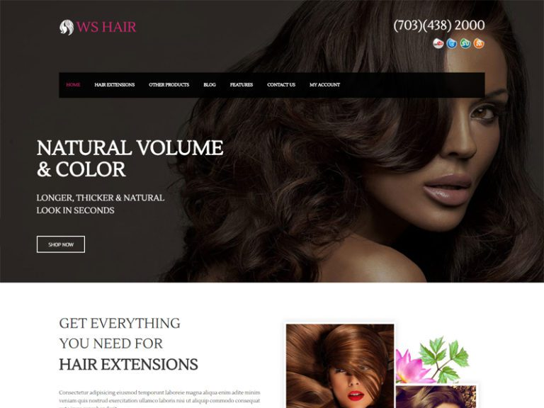 WS HAIR FREE RESPONSIVE SPA SALON WOOCOMMERCE WORDPRESS THEME