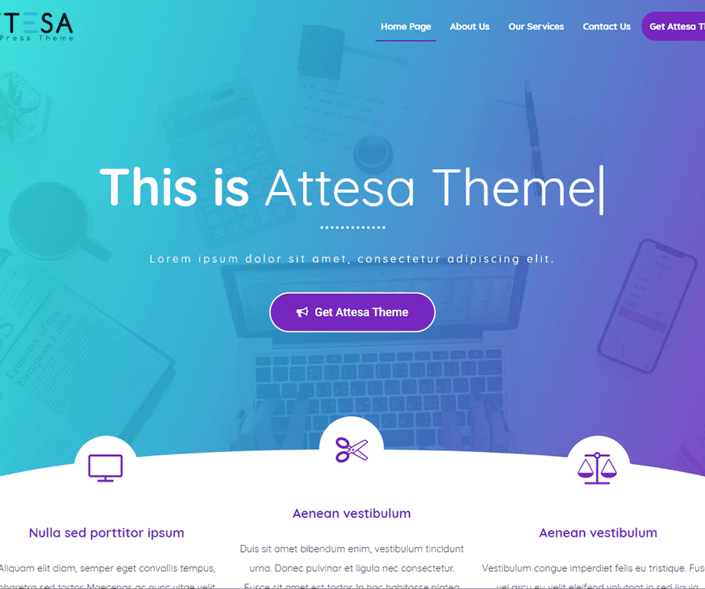 ATTESA FREE NEWS WORDPRESS THEME