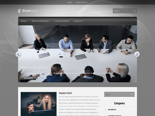 BIZERPRO FREE BUSINESS WORDPRESS THEME