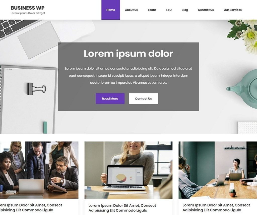 BUSINESS WP FREE NEWS WORDPRESS THEME