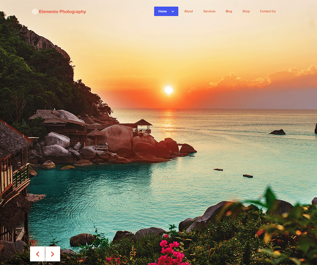 ELEMENTO PHOTOGRAPHY FREE PORTFOLIO WORDPRESS THEME