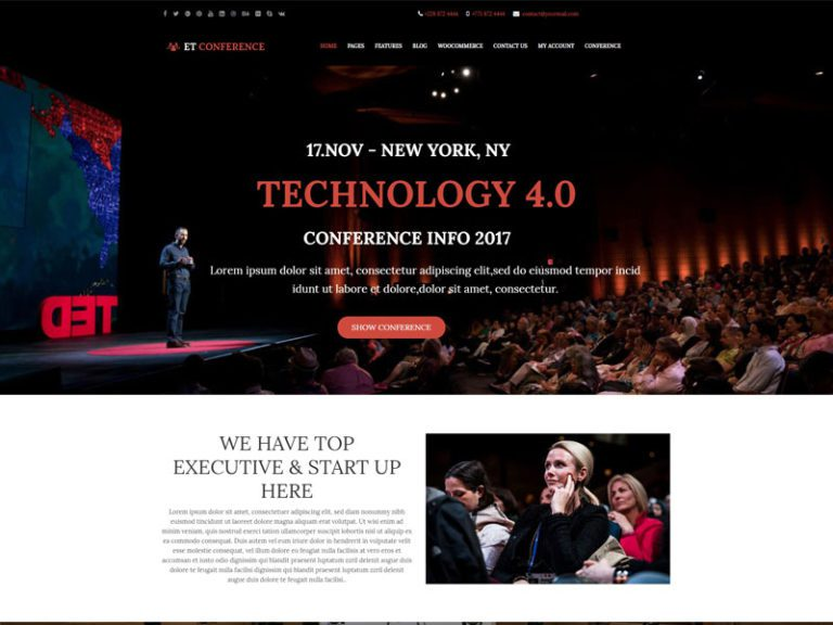 ET CONFERENCE FREE RESPONSIVE WORDPRESS CONFERENCE THEME