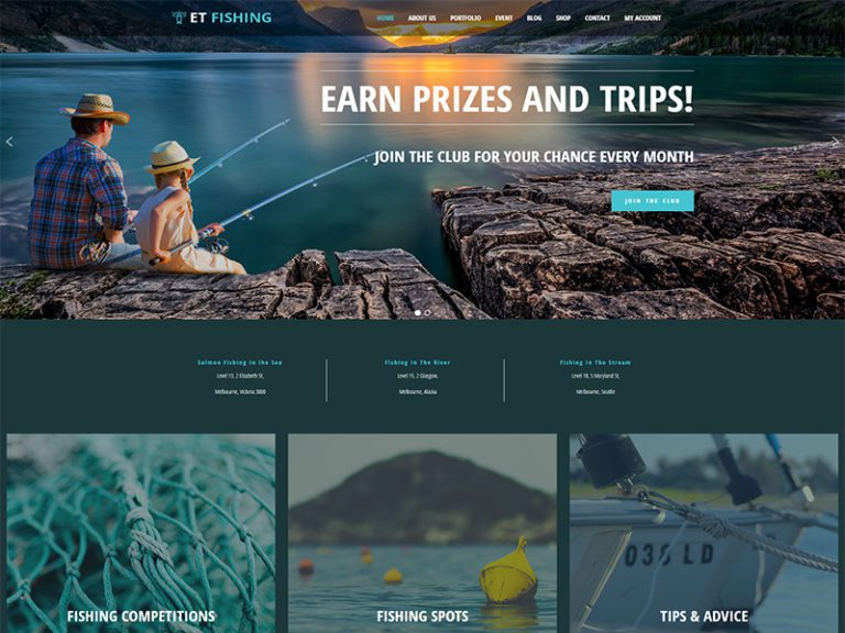 ET FISHING FREE FISHING WORDPRESS THEME