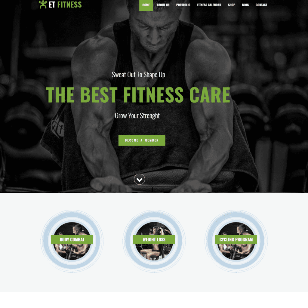 ET FITNESS – FREE RESPONSIVE GYM WORDPRESS THEME