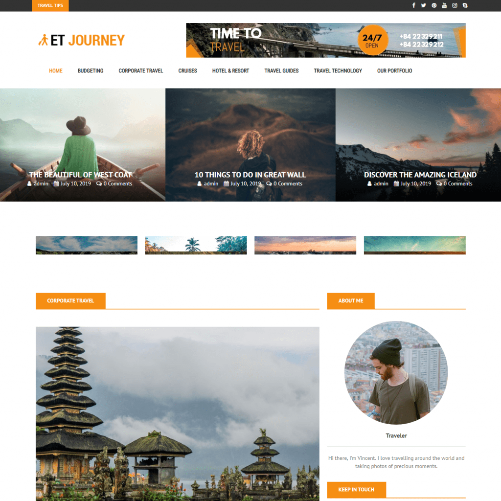 ET JOURNEY RESPONSIVE MAGAZINE WORDPRESS THEME