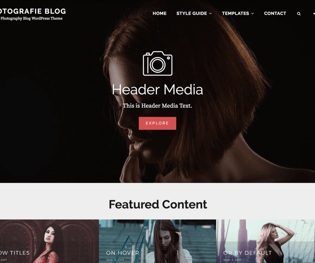 FOTOGRAFIE BLOG FREE PHOTOGRAPHY WORDPRESS THEME