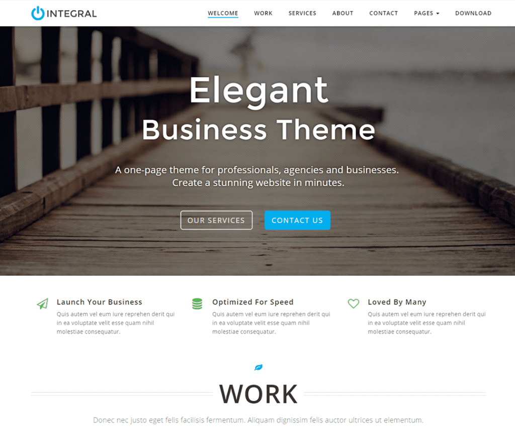 INTEGRAL FREE PHOTOGRAPHY WORDPRESS THEME
