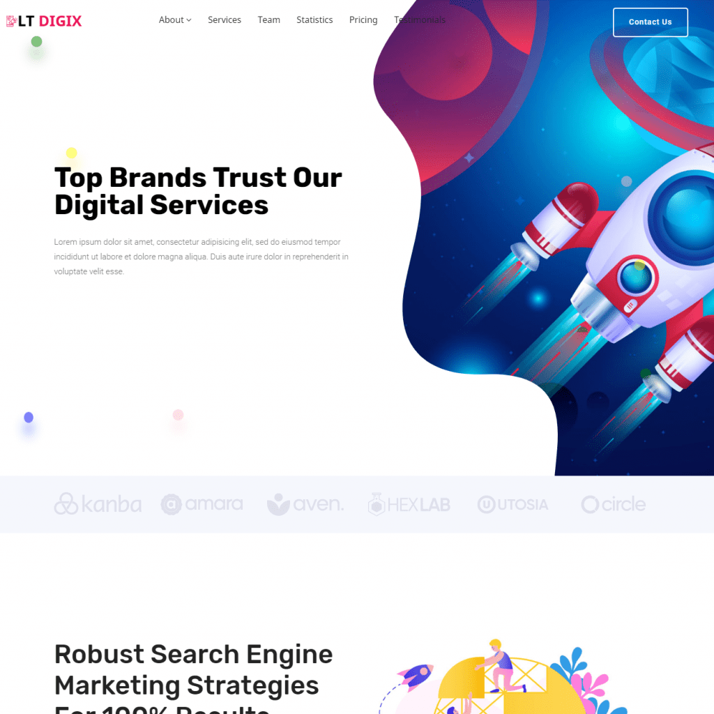 LT DIGIX FREE MARKETING WORDPRESS THEME