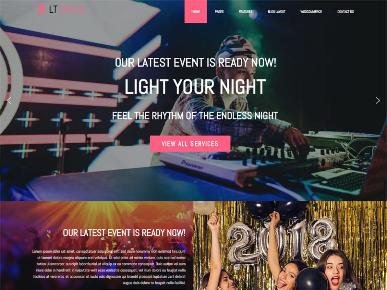 LT DISCO FREE NIGHTCLUB WORDPRESS THEME