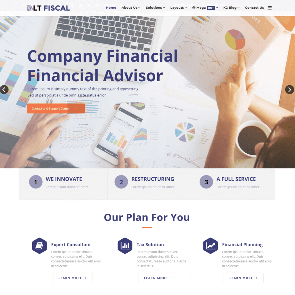 LT FISCAL FREE FINANCE WORDPRESS THEME