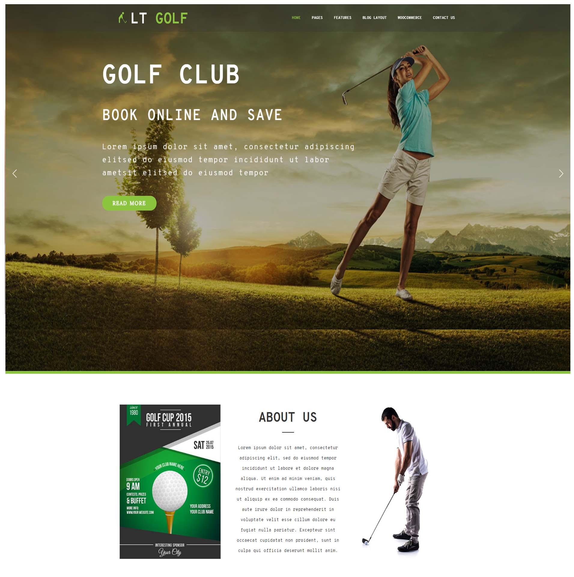 LT GOLF FREE GOLF WORDPRESS THEME