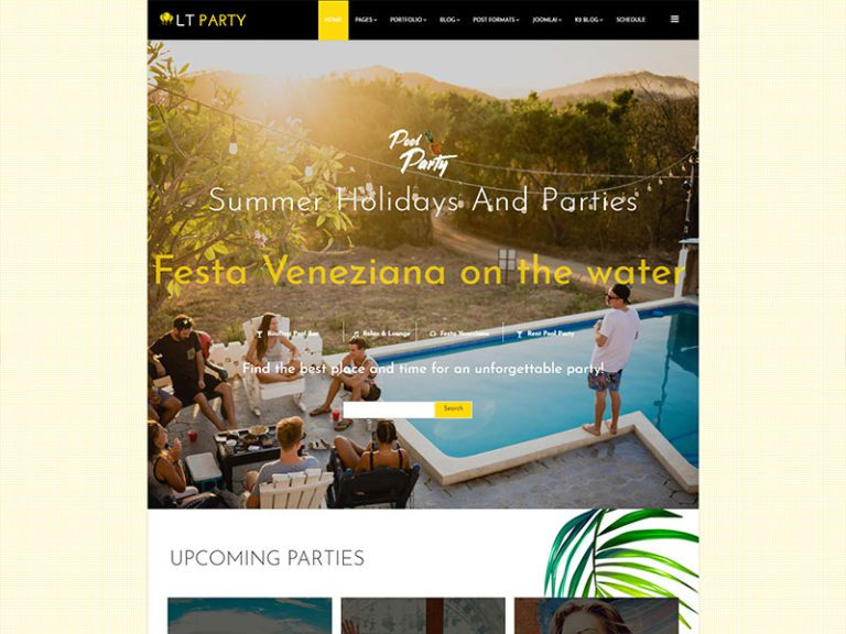 LT PARTY FREE JOOMLA PARTY TEMPLATE