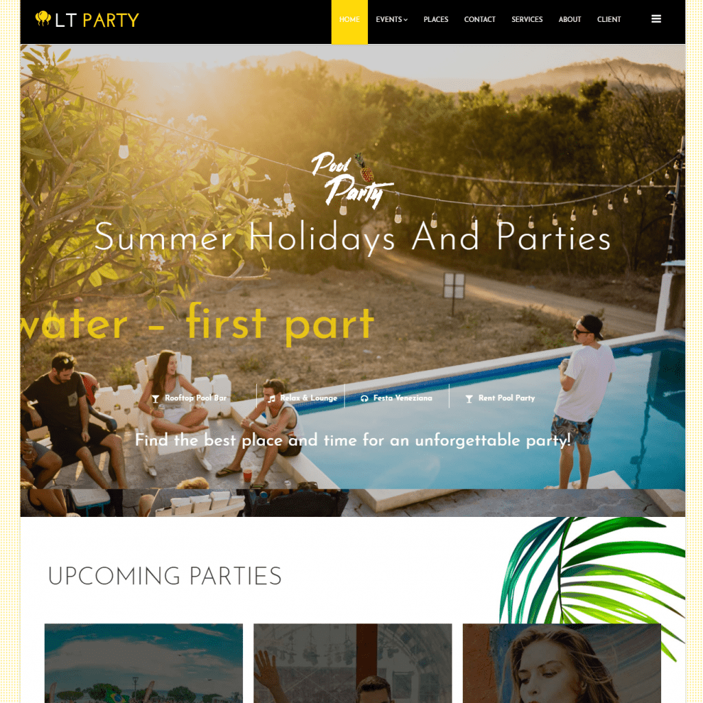 LT PARTY ONEPAGE FREE SINGLE PAGE RESPONSIVE JOOMLA PARTY TEMPLATE