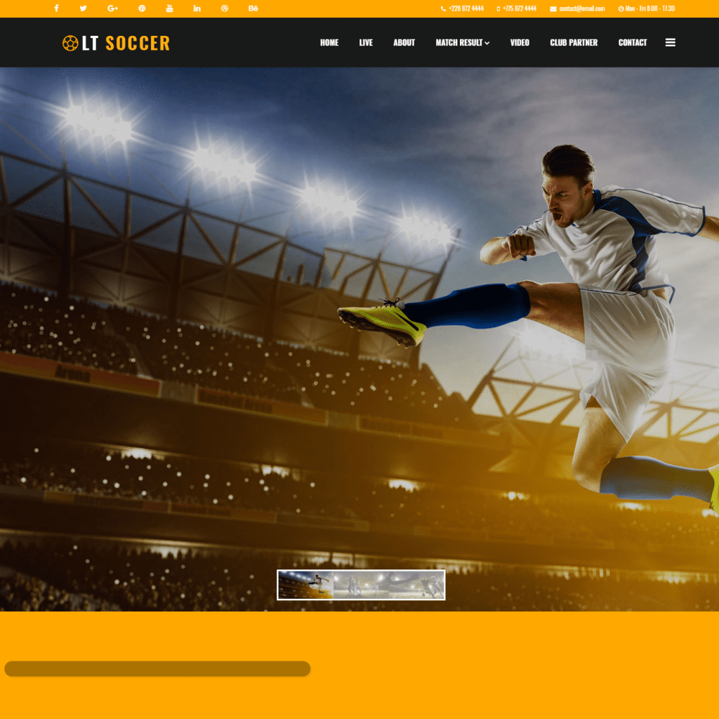 LT SOCCER ONEPAGE FREE SINGLE PAGE RESPONSIVE JOOMLA SOCCER THEME