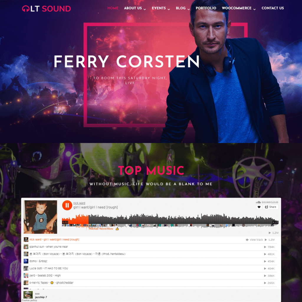 LT SOUND BEST MUSIC WORDPRESS THEME FREE