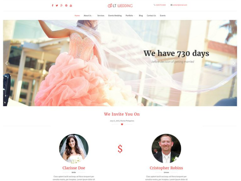 LT WEDDING ONEPAGE FREE WEDDING WORDPRESS THEME
