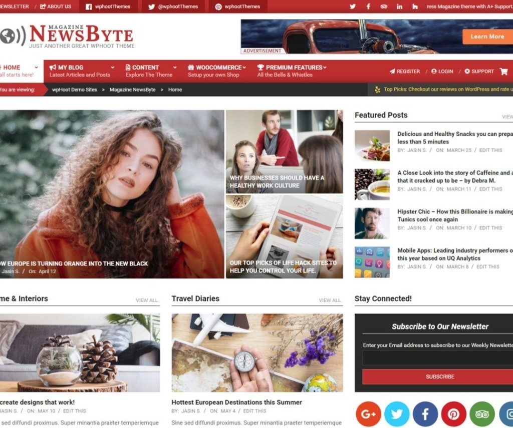 MAGAZINE NEWS BYTE FREE ENTERTAINMENT WORDPRESS THEME