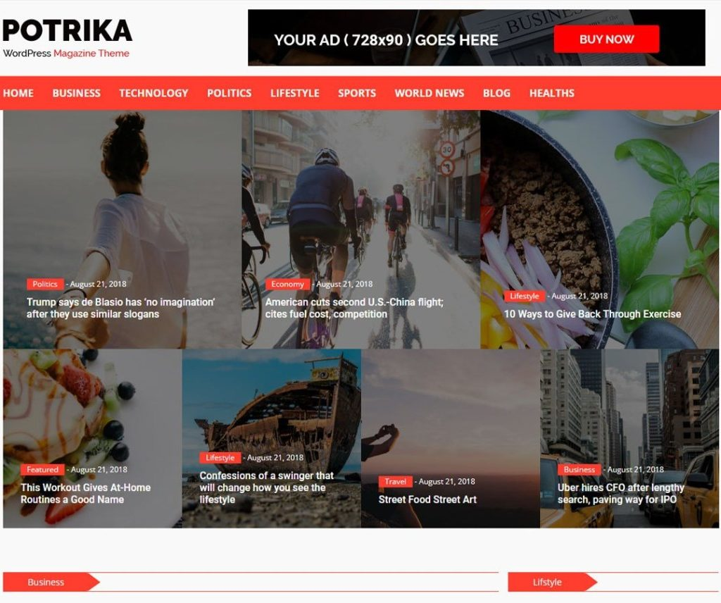 NEWSPOTRIKA FREE NEWS WORDPRESS THEME