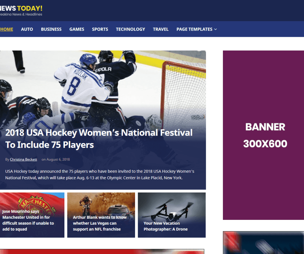 NEWSTODAY FREE ENTERTAINMENT WORDPRESS THEME